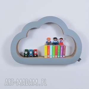 półka na książki zabawki chmurka ecoono szary - półka