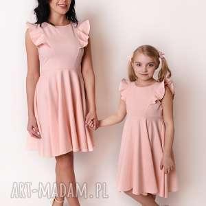 latori - sukienka dziewczęca z kolekcji mama i córka dla córki ld45/2 jasny
