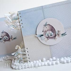 scrapbooking albumy album z misiem pudełko, album, chrzest, chrzciny, miś