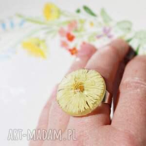 kwitnący pierścień regulowany, pierścień, kwiat, żywica, pierścionek, z żywicy