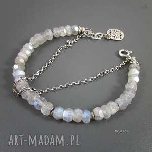 bransoletki labradoryt z łańcuszkiem, labradoryt, srebro biżuteria