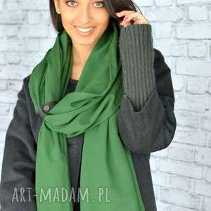 hand-made szaliki szal mega gruby 250cm!! Zielony
