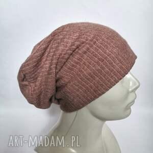 czapki czapka damska uniwersalna na podszewce, miękka miła kolor brudny