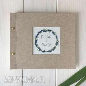 personalizowany album ślubny ręcznie malowany 21 cm, ślub, prezen