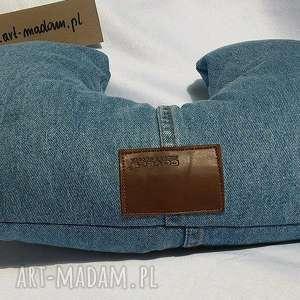 poduszki poduszka podróżna rogalik, poduszka, podróżna, jeans