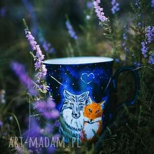 kubki porcelanowy kubek do kawy z wilkiem, personalizowany prezent