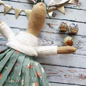 handmade maskotki pani królik z wyszytym imieniem