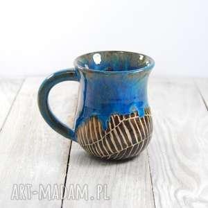 Kubek ceramiczny zaciekowy sgraffito ceramika mula kawa, herbata