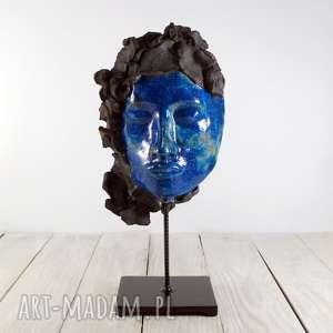 wyjątkowy prezent, maska twarz blue mask, twarz, dekoracja, aranżacja, ceramika