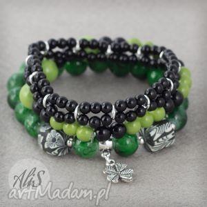 Lucky - ,zielona,czarna,koniczyna,lucky,szczęście,zestaw,