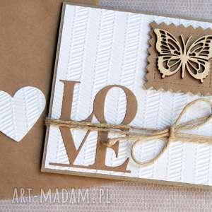 kartki kartka ślubna eko love motyl, ślub, ślubna, miłosna, walentynki