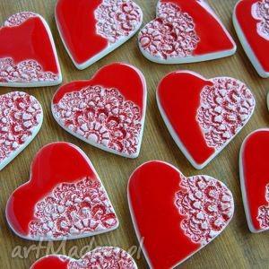 hand-made ceramika ceramiczne serca - podziękowania weselne