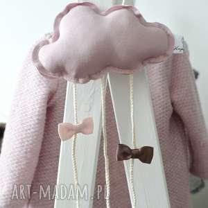 hand-made dla dziecka chmurka clipo różowa organizer na spinki