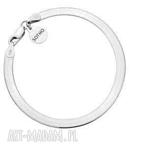srebrna bransoletka snake - srebrne bransoletki elegancka, srebro925, musthave