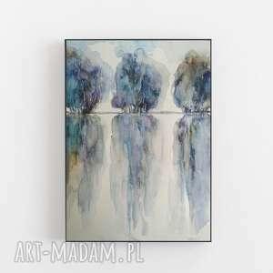drzewa-akwarela formatu 24/32 cm, akwarela, papier, farby, drzewa, kredki, tusz