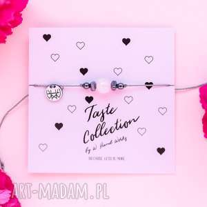 bransoletki whw taste rose quartz ii, sznurkowa, sznureczkowa, delikatna