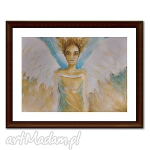 obrazy anioł hanael, akwarela - anioł, anioly, obraz