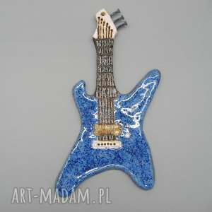 święta, gitara rokowa, gitara, prezent, dekoracja, ściana, ceramika, metal
