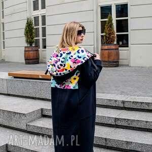 handmade płaszcze mega długa bluza nepal czarny