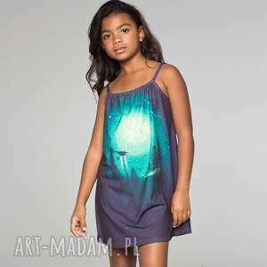 sukienka bez rękawów dla dzieci z miastem przyszłości, summer, lato, mrgugu, kids