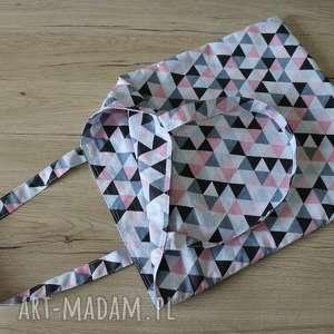 ręcznie robione torba bawełniana - trójkąty