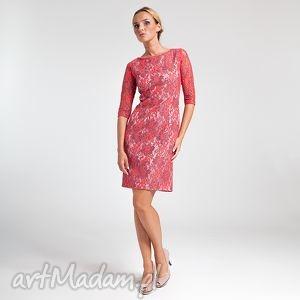ręcznie wykonane sukienki ramona - sukienka czerwona