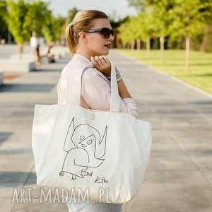 ręcznie robione na zakupy torba bawełniana (duża) anioł