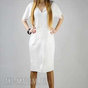 sukienki sukienka julka 2, wygodna, swobodna, luźna, dresowa, sukienka, kieszenie
