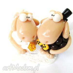 FIGURKA NA TORT ŚLUBNY owieczki, figurka, ślub, wesele, tort, owieczka, owce