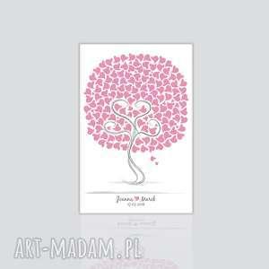 Prezent ślubna księga gości weselnych, obraz na płótnie, ślub, wesele, płótno