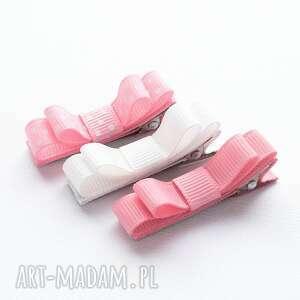 spinki do włosów kokardki basic peony pink, spinki, dowłosów, kokardki