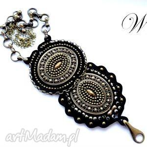 handmade naszyjniki naszyjnik sutasz i haft koralikowy wiking