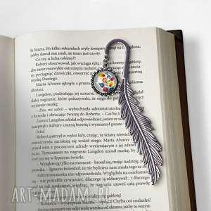 zakładka do książki w ludowe kwiaty, zakładka, książki, ludowe, folk