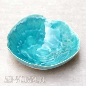 ceramika misa ceramiczna, misa, miska, motywy morskie, na stół, do salonu