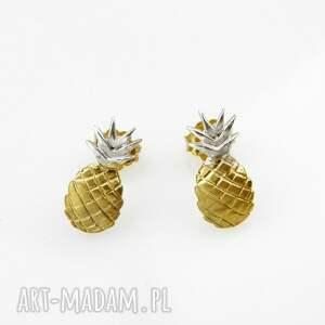 venus galeria ananasy złote - kolczyki srebrne, kolczyki, biżuteria