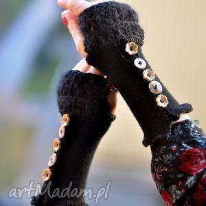 rękawiczki mitenki - rękawiczki, mitenki, włóczkowe, dzianina