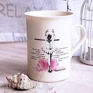 kubeczek z baletnicą, kubek, tancerka, życzenia, baletnica, prezent