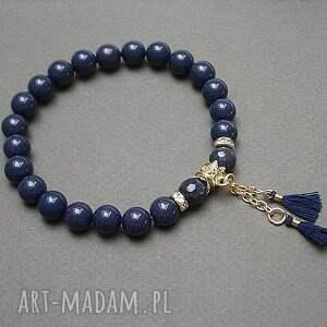 navy blue /troki/ vol 8 - bransoletka, kamienie, minerały, boho, chwosty, ki