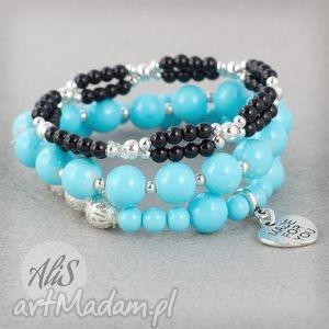 ręcznie wykonane bransoletki elegancki błękit