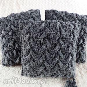 poduszki robione ręcznie wełna 40x40 cm 3szt, poduszki, poduszka, poszewka, poszewki