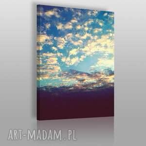 obraz na płótnie - chmury pejzaż 50x70 cm 02801, chmury, niebo, pejzaż, krajobraz