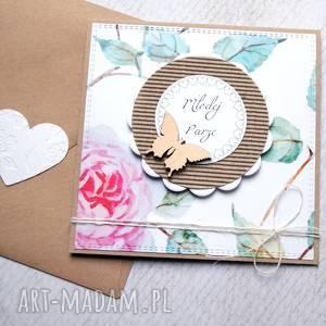 handmade kartki kartka ślubna romantyczna:: róże