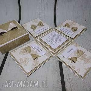 exploding box eksplodujące pudełeczko w złocie - komunia, urodziny, rocznica