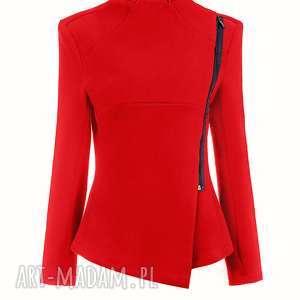 Bien Fashion Bluza damska z zamkiem boku, zamek, zapinana, dopasowana, stójka