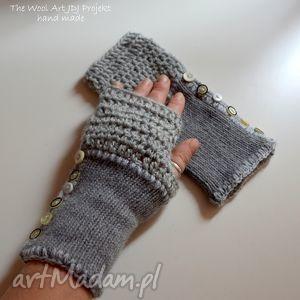 rękawiczki mitenki - mitenki, rękawiczki, szre, wełna, prezent