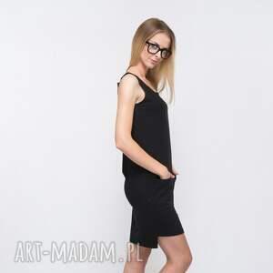 ręczne wykonanie sukienki rectangle sukienka dresowa czarna