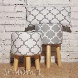 poduszki poduszka koniczyna maroko biało - szara, poduszka, maroco, pillow