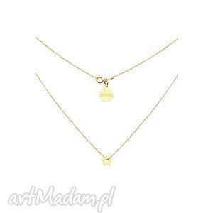 złoty naszyjnik z małą gwiazdką - delikatny, gwiazdka