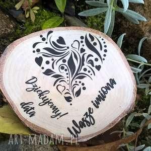 Magnes z brzozy - podziękowanie dla gości ślub pracownia