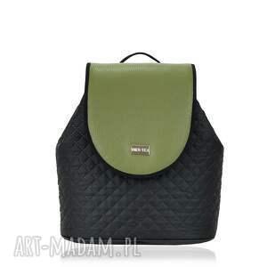 plecak damski puro 744, plecak, puro, wymienne, klapki, khaki, pikowany torebki
